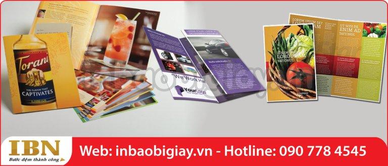 in brochure số lượng ít sẽ thu hút khách hàng