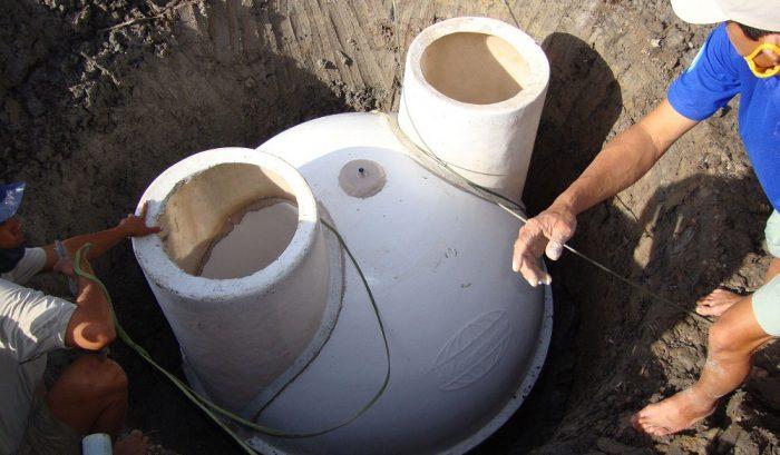 hầm biogas composite xử lý chất thải