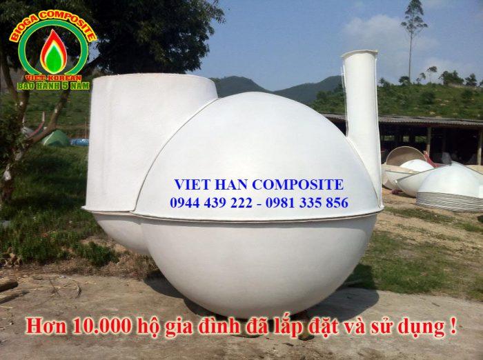 nguyên lý hoạt động hầm biogas composite